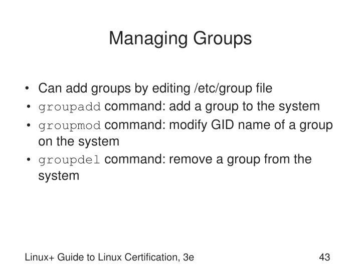 Managing Groups