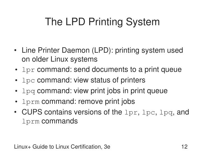 The LPD Printing System