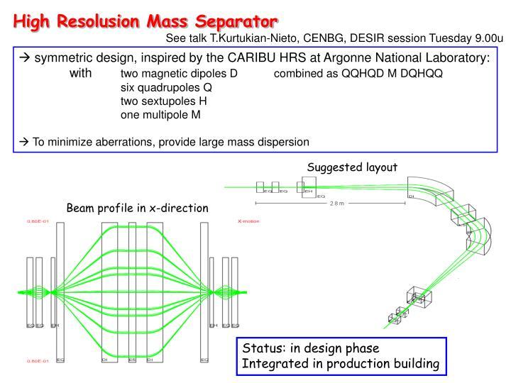 High Resolusion Mass Separator