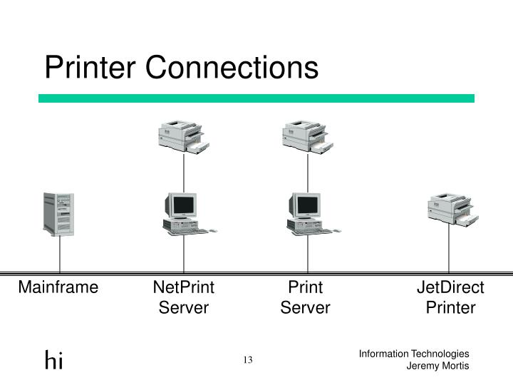 Printer Connections