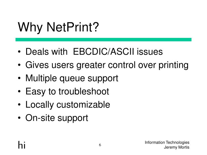 Why NetPrint?