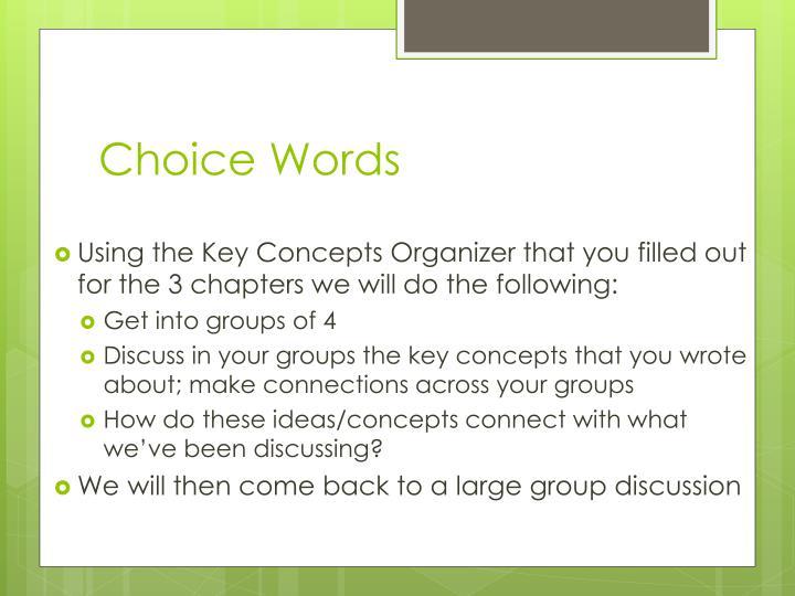 Choice Words