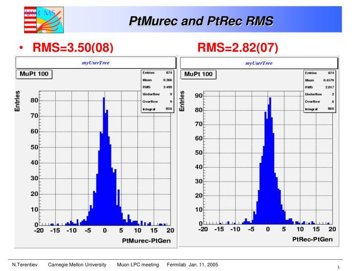 Ptmurec and ptrec rms1
