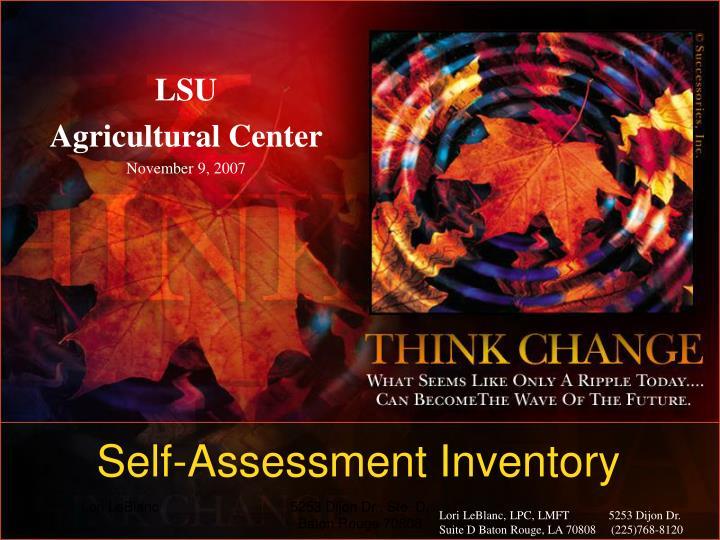 Lsu agricultural center november 9 2007