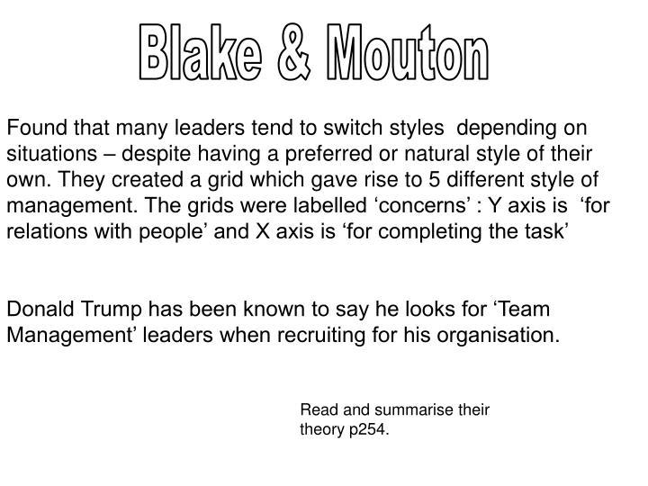 Blake & Mouton