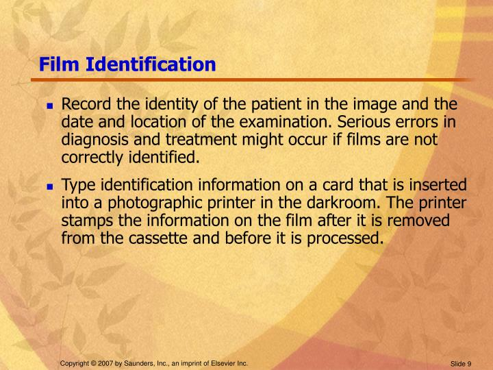 Film Identification
