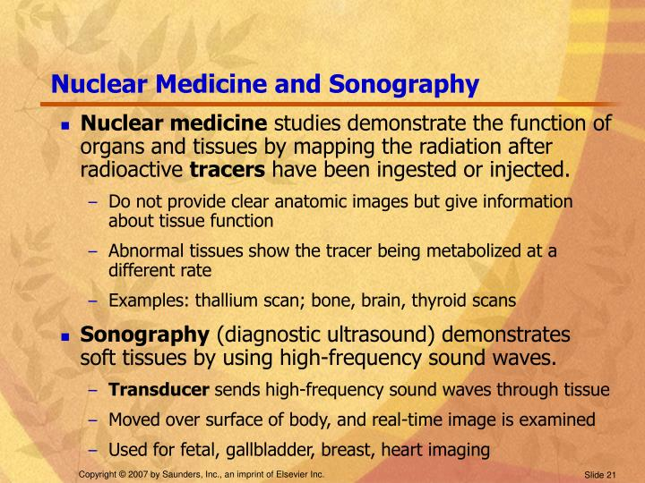 Nuclear Medicine and Sonography