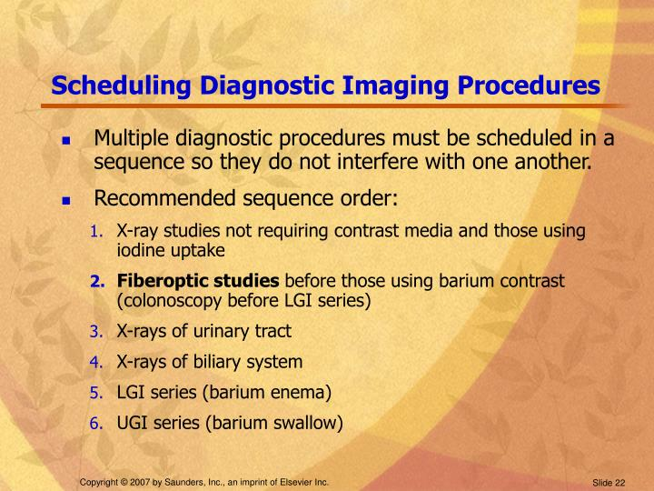 Scheduling Diagnostic Imaging Procedures