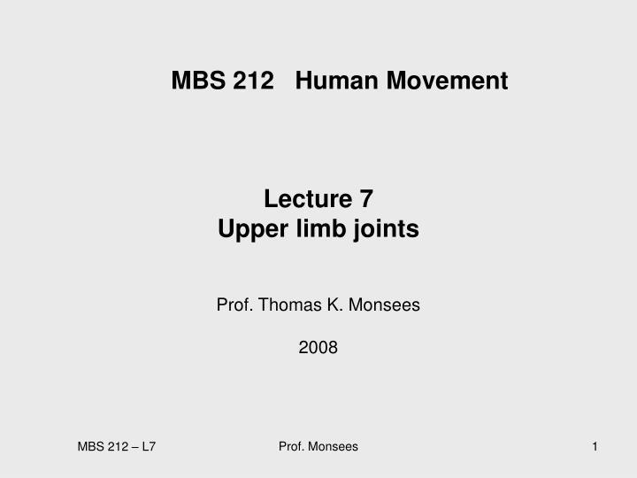 Mbs 212 human movement