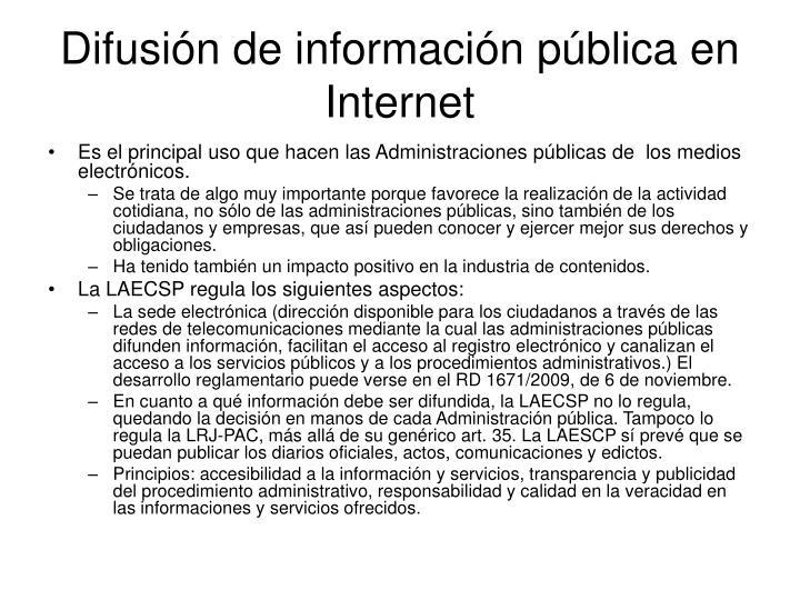 Difusión de información pública en Internet