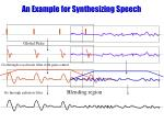 an example for synthesizing speech
