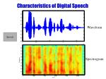 characteristics of digital speech