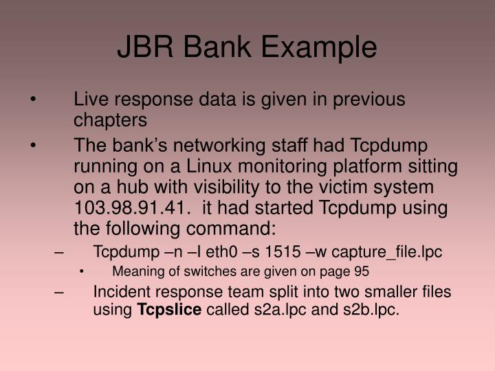 Jbr bank example