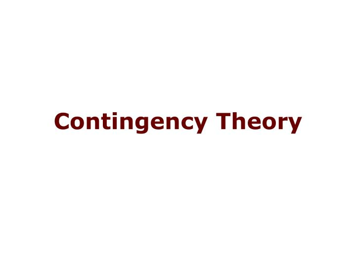 Contingency theory