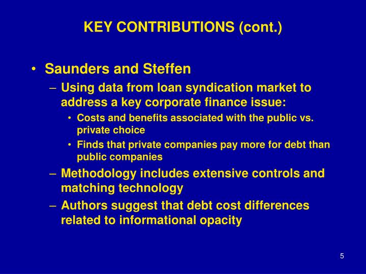 KEY CONTRIBUTIONS (cont.)