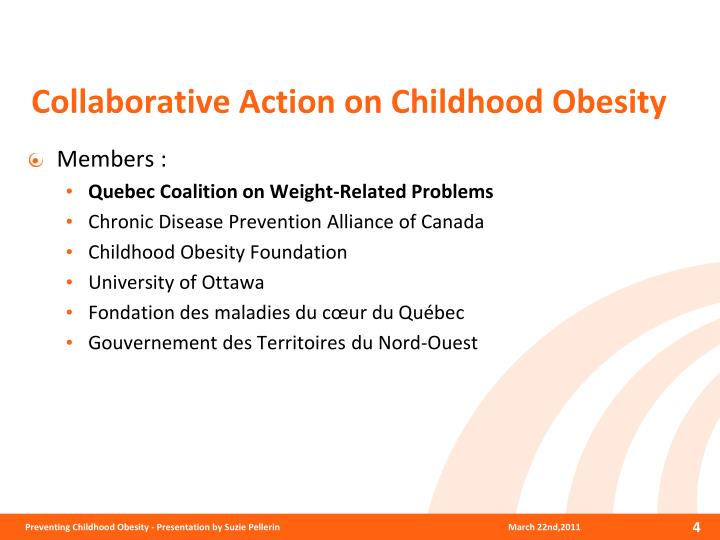 Collaborative Action on Childhood Obesity