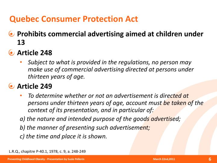 Quebec Consumer Protection Act