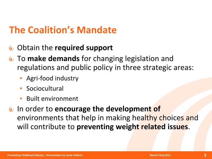 The coalition s mandate