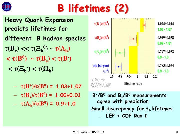 B lifetimes (2)
