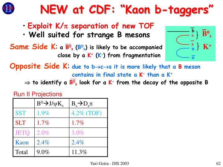 "NEW at CDF: ""Kaon b-taggers"""