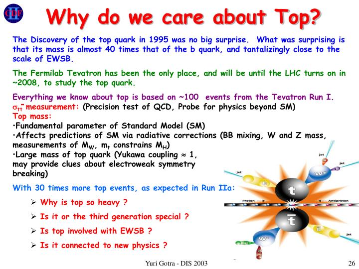 Why do we care about Top?