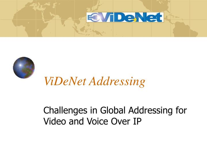 videnet addressing n.