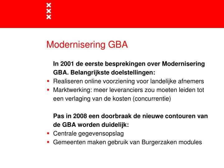 Modernisering GBA