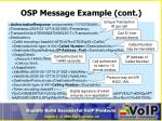 osp message example cont