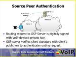 source peer authentication