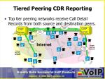 tiered peering cdr reporting