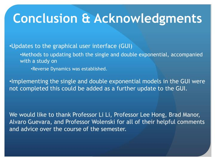 Conclusion & Acknowledgments