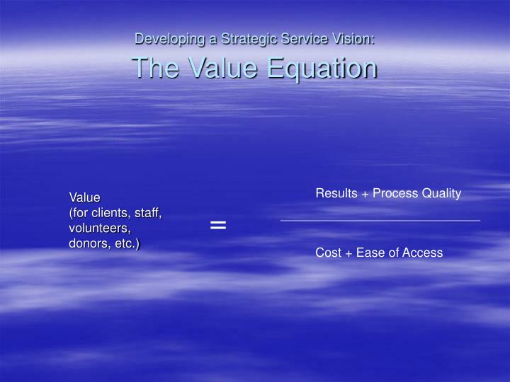 Developing a Strategic Service Vision: