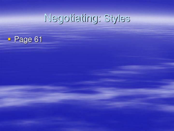 Negotiating: