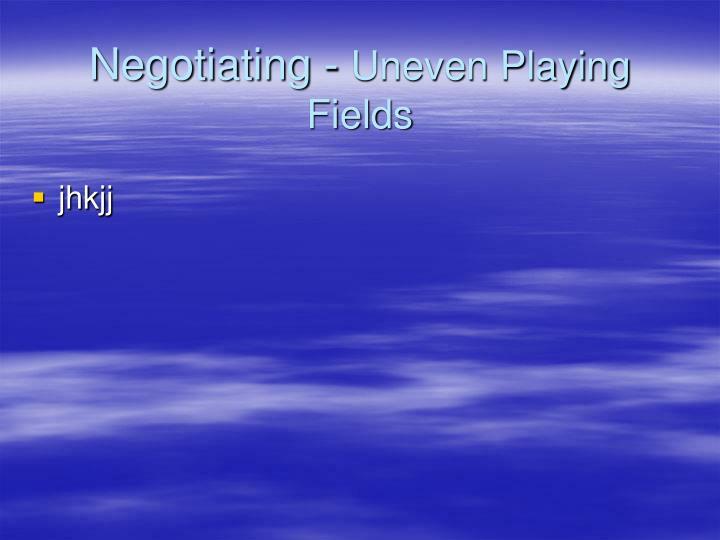 Negotiating -