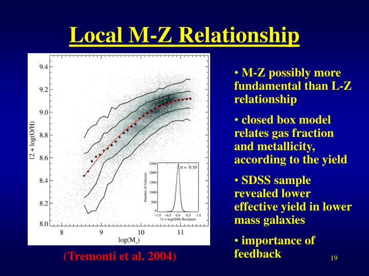Local M-Z Relationship