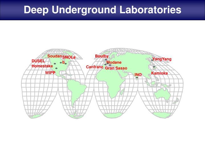 Deep Underground Laboratories