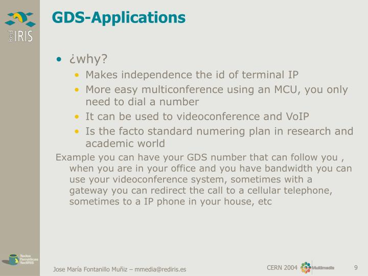 GDS-Applications