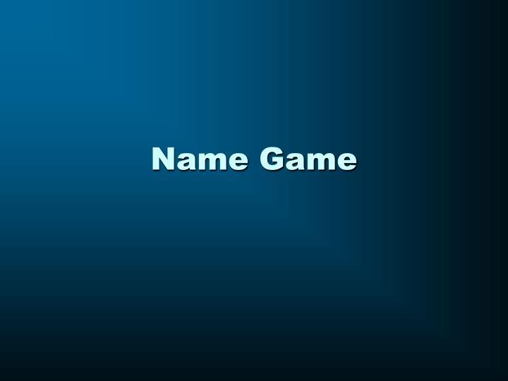 name game n.