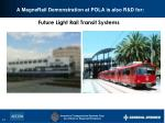 a magnerail demonstration at pola is also r d for