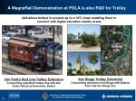a magnerail demonstration at pola is also r d for trolley