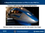 a magnerail demonstration at pola is also r d for1