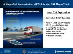 a magnerail demonstration at pola is also r d magnetruck