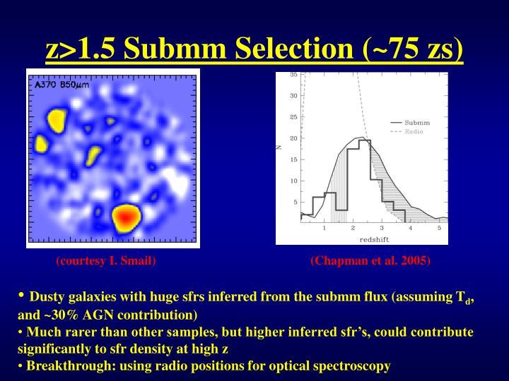 z>1.5 Submm Selection (~75 zs)