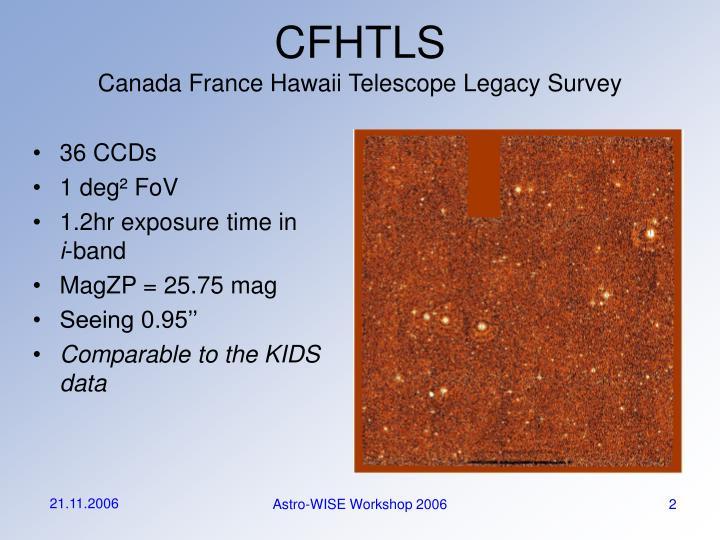 Cfhtls canada france hawaii telescope legacy survey