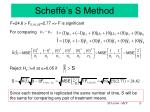 scheff s s method