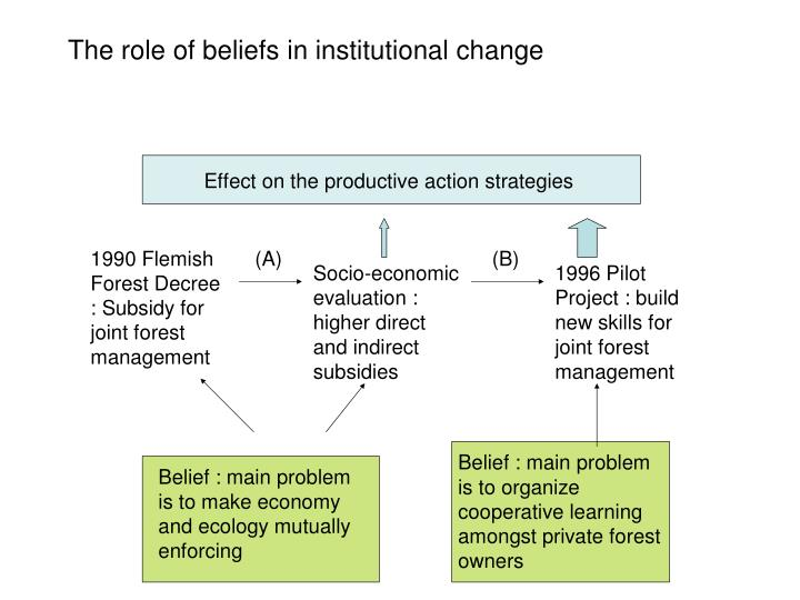 The role of beliefs in institutional change