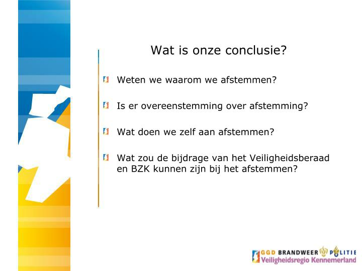 Wat is onze conclusie?