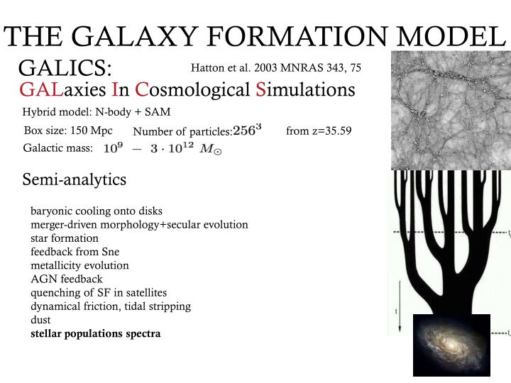 THE GALAXY FORMATION MODEL