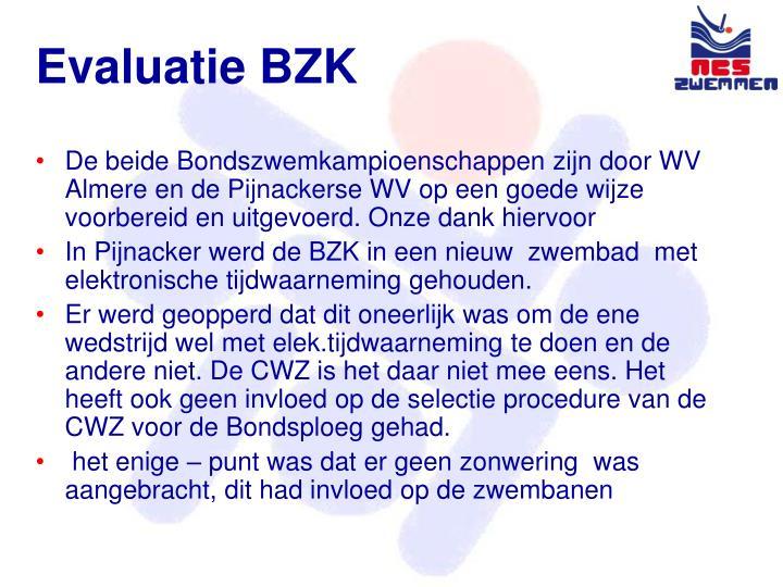 Evaluatie BZK