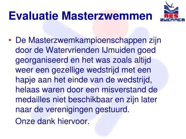 Evaluatie Masterzwemmen